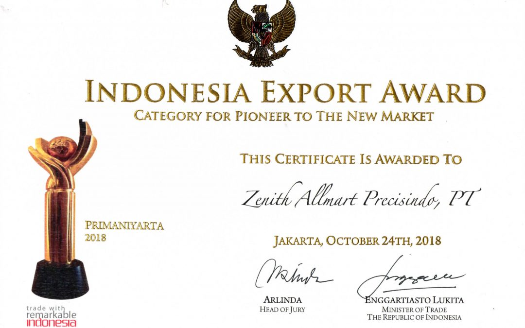 Three times Winner of Indonesian Product Exporter
