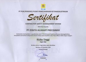 Contractor Safety Management System Certificate – PLN